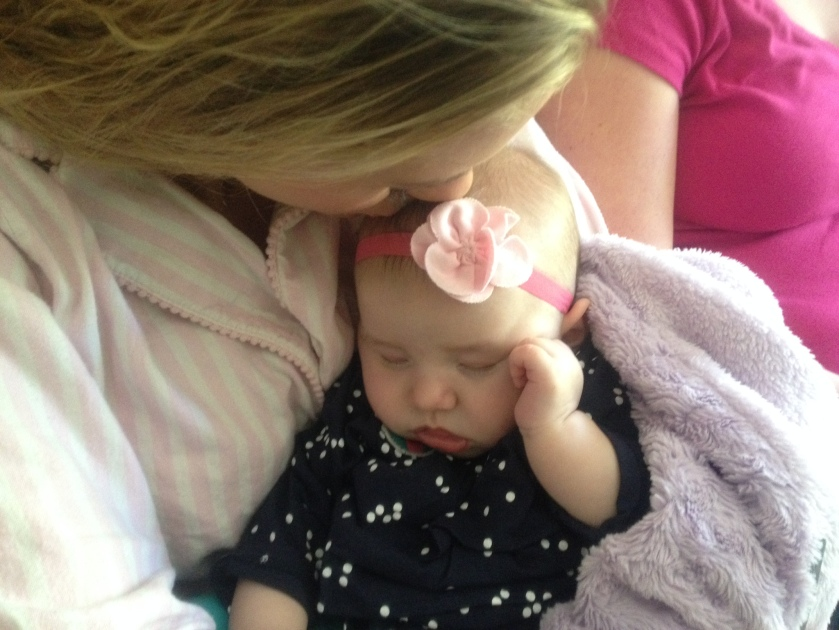 Sleeping baby with chelsea vail