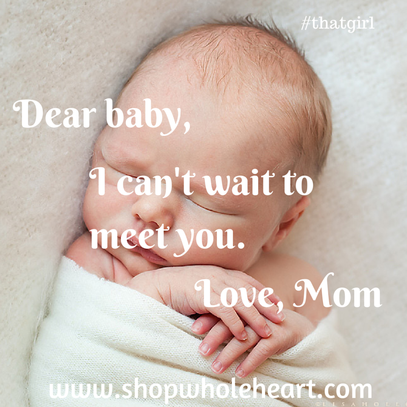 i cant wait to meet you love mom