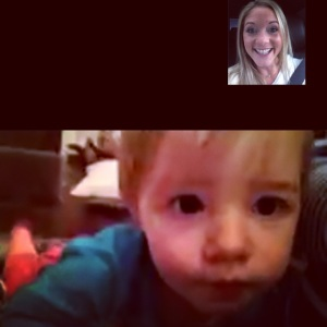 Facetime with Evie